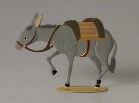 Schmaedl-Krippe Esel / Donkey' Standing Pewter Wilhelm Schweizer