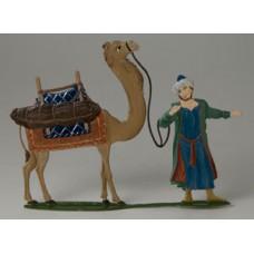 Schmaedl-Krippe Page w. Camel' Standing Pewter Wilhelm Schweizer