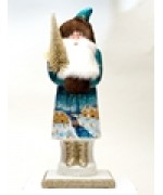 Ino Schaller Paper Machee Santa 'Large in Blue'