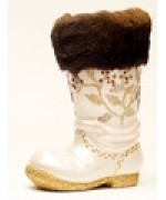 TEMPORARILY OUT OF STOCK - Ino Schaller Paper Machee Small Santa Boot