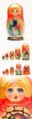 TEMPORARILY OUT OF STOCK - Nativity  Nesting Doll  G. DeBrekht