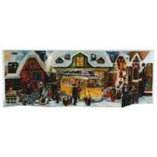 Old German Paper Advent Panorama Calendar