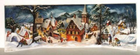Old German Paper Advent  3 - D Calendar