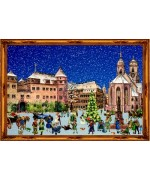 Old German Paper Advent Calendar  Stuttgart - TEMPORARILY OUT OF STOCK