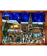 Old German Paper Advent Calendar München - TEMPORARILY OUT OF STOCK