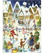 TEMPORARILY OUT OF STOCK - Weihnachtskarte  Advent Calendar Card