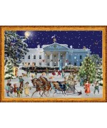 TEMPORARILY OUT OF STOCK - Old German Paper Advent Calendar  White House