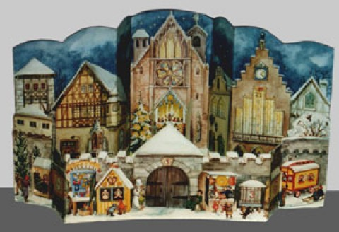 Old German Paper Advent RE-PRINT 1947 - 3D Calendar