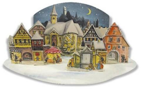 Old German Paper Advent RE-PRINT 1955 3D Calendar