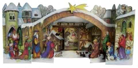 Old German 3D Advent Calendar
