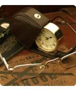Roger Lascelles  Croc-skin Clock
