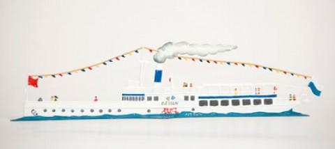 New Diessen Steamboat Standing Pewter Wilhelm Schweizer