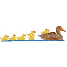 Duck Family Standing Pewter Wilhelm Schweizer