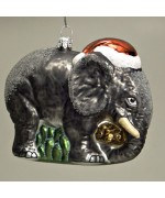 Mouth Blown Glass Ornament 'Elephant'