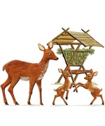 Feeding Station with Deer Wilhelm Schweizer