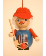 TEMPORARILY OUT OF STOCK - Field Hockey Player Wooden Ornament Christian Steinbach