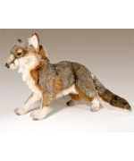 Gray Fox Standing  Stuffed Animal by Hansa