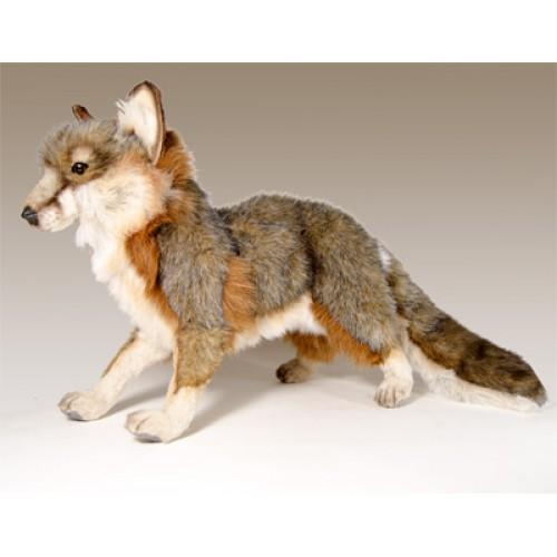 Gray Fox Standing Stuffed Animal By Hansa