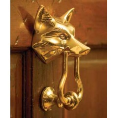 Jefferson Brass Fox Door Knocker - FD