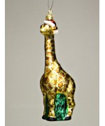 TEMPORARILY OUT OF STOCK - Mouth Blown Glass Ornament Giraffe