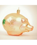 TEMPORARILY OUT OF STOCK - Mouth Blown Glass Ornament Good Luck Pig