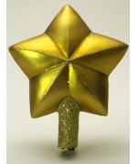 Mouth Blown Glass Ornament 'Gold Star Tree topper'
