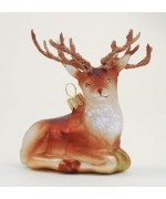 "TEMPORARILY OUT OF STOCK <BR><BR> ""Hanco Glass Ornament 'Deer'"