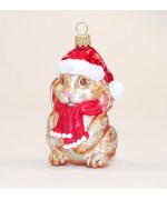 TEMPORARILY OUT OF STOCK <BR><BR> Hanco Glass Ornament 'Rabbit'