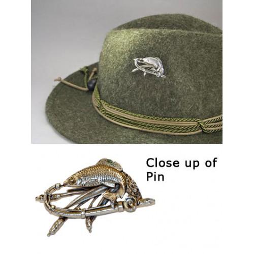 German fish 39 hat pin for Fishing hat pins