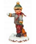 TEMPORARILY OUT OF STOCK - Schuljunge Original HUBRIG Wooden Figuren