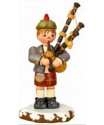 Dudelsackspieler'Original HUBRIG Wooden Figuren