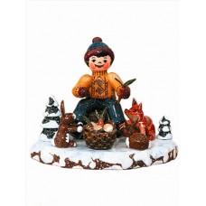 Tiere des Waldes'Original HUBRIG Wooden Figuren