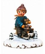 'Schlittenfahrer' Original HUBRIG Wooden Figuren