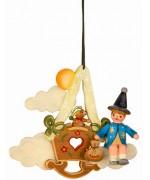 Sandmann/Teddy/Wiege'Original HUBRIG Wooden Figuren