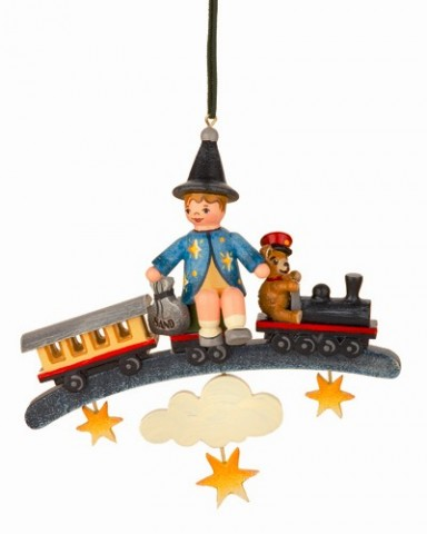 Sandmann/Teddy/Zug Original HUBRIG Wooden Figuren