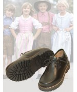 dirndl + bua Kids Black Leather Trachten Shoe