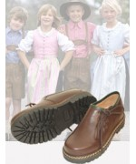 TEMPORARILY OUT OF STOCK dirndl + bua Kid's' Rich Leather Trachten Shoe'