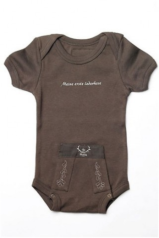 TEMPORARILY OUT OF STOCK - My First Lederhosen Baby Onesie