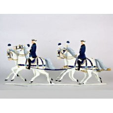 King  Ludwig II Horses Schlittenfahrt Standing Pewter Wilhelm Schweizer