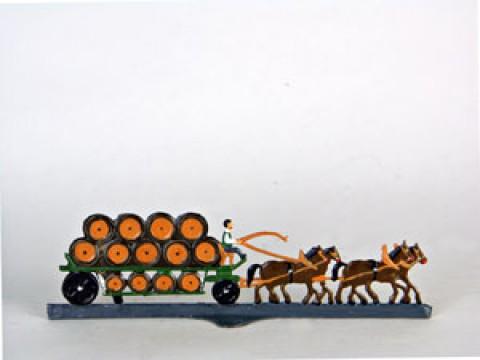 Beer Wagon Miniature Standing Pewter Wilhelm Schweizer