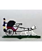 Horse Drawn Carriage Miniature Standing Pewter Wilhelm Schweizer