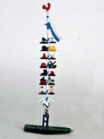 May Pole Maibaum Miniature Standing Pewter Wilhelm Schweizer