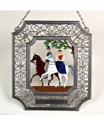 Pair of Riders' Window Wall Hanging Wilhelm Schweizer