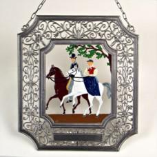 Pair of Riders' Window Wall Hanging Wilhelm Schweizer