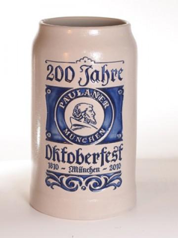 Oktoberfest Paulaner Beer Steins   200 Jahre OKTOBERFEST German Beer Mug