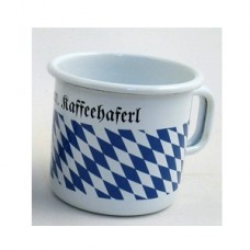 TEMPORARILY OUT OF STOCK Bavarian Coffee Cup  Enamelware