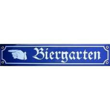 Biergarten  Decorative Enamel Sign