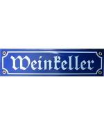 TEMPORARILY OUT OF STOCK - Weinkeller  Wine Celler  Enamel Sign