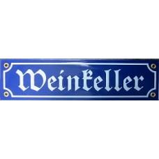 Weinkeller  Wine Celler  Enamel Sign