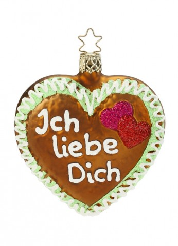 TEMPORARILY OUT OF STOCK - Inge-Glas Ornament Ich liebe Dich